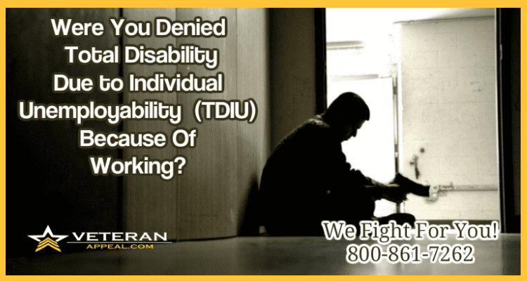 Individual Unemployability (TDIU) | Law Offices of Peter S  Cameron