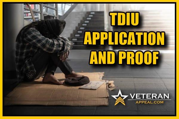 TDIU Application And Proof