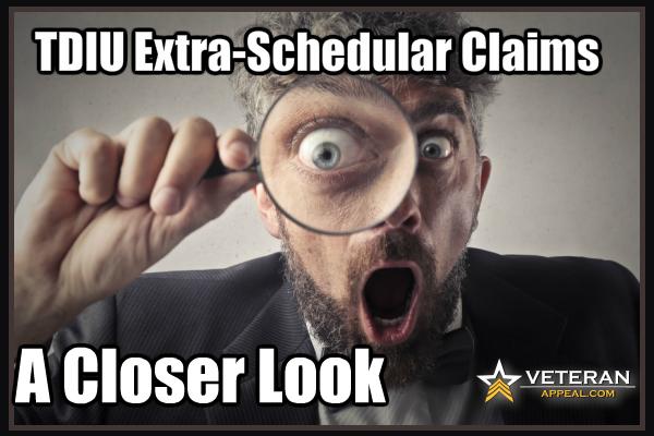TDIU Extra-Schedular Claims